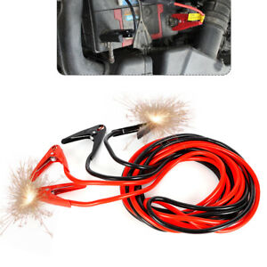 2gauge 25ft 800amp Jumper Battery Cables Booster Pvc Coated Jumping Cables