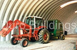 Durospan Steel 30x32x14 Metal Quonset Home Barn Building Kit Open Ends Direct