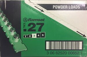 Ramset 3rs27ds 27 Cal Green Power Strip Loads box Of 600