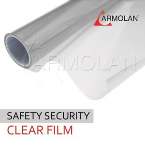 Safety Protection Window Film 60 X 100ft 8 Mil Clear