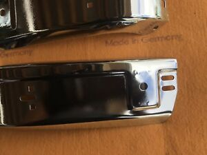 Bmw Oem E30 Euro Chrome Front Bumper Corners New Old Stock