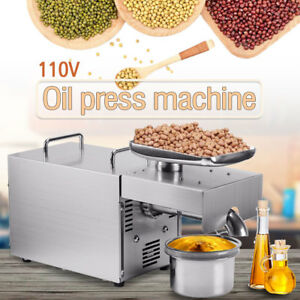 Stainless Steel Automatic Small Oil Press Machine Cold Hot Press 110v 501 800w