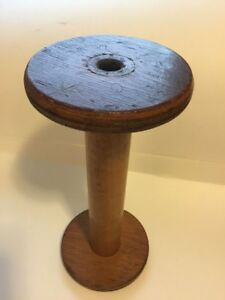 Wood Vintage Primitive Textile Mill Spool