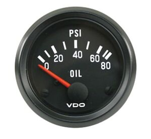 350 040 Vdo 2 1 16 In Electric 0 80 Psi Cockpit Oil Pressure Gauge Vw Hot Rod