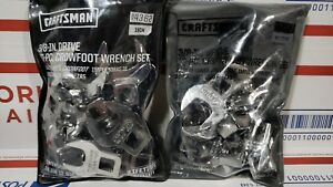 Craftsman 20 pc 3 8 in Drive Crowfoot Wrench Set 4362 4363 Sae And Metric New