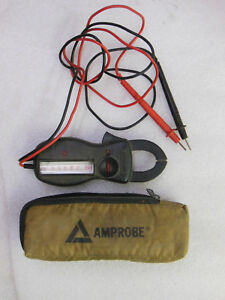 Amprobe Model Ultra Analog Clamp Meter With Case And Leads