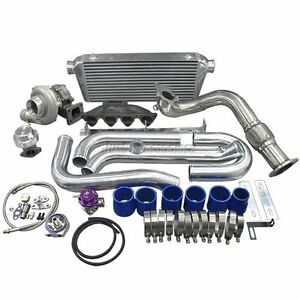 Turbo Intercooler Kit Cast Manifold For Civic Ek B16 B18 B20 B series Engine