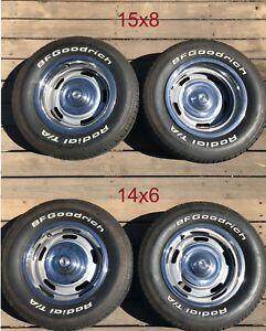 15x8 14x6 Chevy Rally Wheels Bf Goodrich Tires 215 70 14 255 60 15 Date Coded