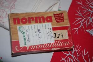 Vintage Norma Olympics Empty Ammo Box With 20 Compartments 3031 Cardboard Calibe