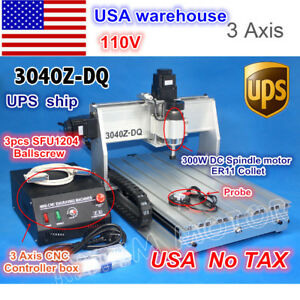 usa Ship 3 Axis 3040 Z dq Desktop Ball Screw Cnc Engraving Milling Machine 110v