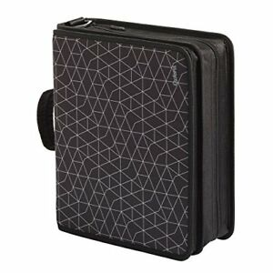 Oxford Zipper Binder With Tech Storage 3 D rings Handle And Shoulder Strap