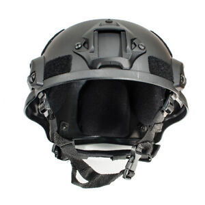 MICH 2000 Airsoft Tactical Hunting Combat Helmet w Side Rail Mount Army Green