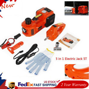 12v 5t Auto Electric Hydraulic Floor Jack Lift Impact Wrench Car Repair Tool Kit