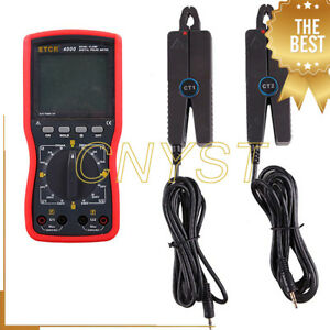 Etcr4000 0 To 10a Multifunction Double Clamp Ac Digital Phase Meter Measuring Ga