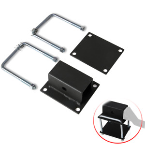 2 Rv Square Bumper Receiver Adapter Fit For Bike Cargo Carrier Hitch Receiver