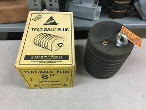 New In Box Cherne 8 Test Ball Plug 041 386