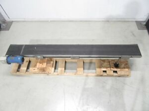 Flat Belt Conveyor 9 1 2 In W x 96 In L With Motor 681030 used Tested