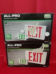 Two Emergency Exit Light Ap Series 2 Color Red green Led Exit Sign New Two Exit