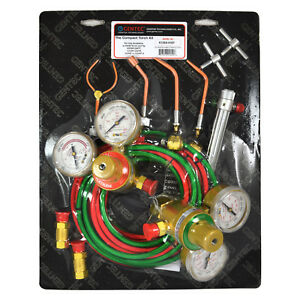 Gentec Kcma16sp Acetylene Torch jewelry hvac Kit With Regulators