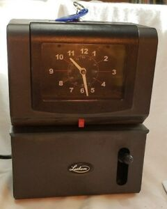 Lathem 2121 Time Heavy Duty High Volume Mechanical Time Clock Charcoal With Key