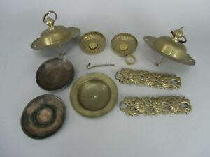 Japanese Buddhist Altar Parts Butsudan Accessory Assorted Set Brass Butsugu B187