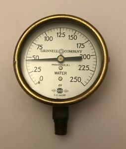 3 1 2 U S Gauge Grinnell Company Inc Brass 250 Psi Water Gauge