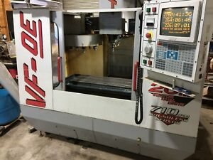 haas Vf 0e Cnc Vertical Mill 1999 With 4th Axis Attachment