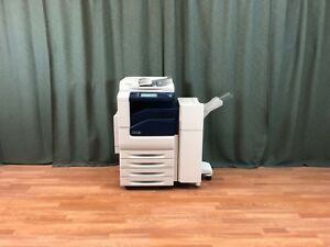 Xerox Workcentre 7225 Color Copier Printer Scanner Fax Finisher Low Meter 34k