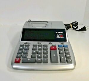 Canon Mp25dv 12 Digit Desktop Printing Calculator Clock Calendar