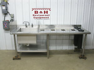 88 Stainless Steel Work Prep Table One 1 Bowl Sink Blender Station 7 4