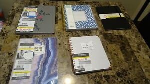 Lot 5 2018 2019 At A Glance Planners Good Til June 2019 New