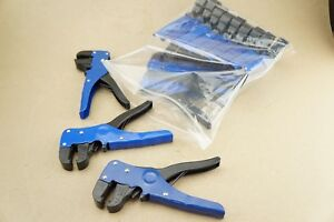 New Bulk Lot Of 14 Automatic Electrical Cable Wire Stripper Cutter Blue Cutters