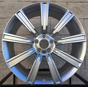 22 Range Rover Stormer Style Wheels Tires Package Hyper Silver Rims