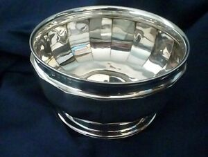 Art Deco Period Small English Sterling Silver Bowl By William Neale