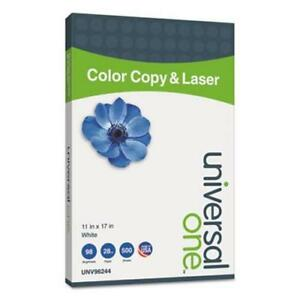 Universal Color Copy laser Paper 11 X 17 White 500 Sheets ream unv96244