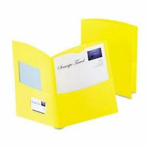 Oxford 2 pocket Recycled Paper Folder 100 sheet Capacity Yellow oxf5062570