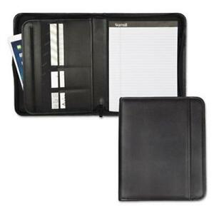 Samsill Zippered Pad Holder Pockets slots Writing Pad Black sam70820