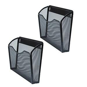 Hanging File Folders Holder Rack Wall Mount Home Office Organizer Pack Of 2