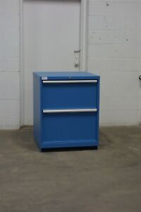 Used Lista 2 Drawer Cabinet 36 Tall Industrial Tool Bench Storage 1629 Vidmar