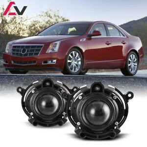 For Cadillac Cts 08 13 Clear Lens Pair Bumper Fog Light Lamp Oe Replacement Dot