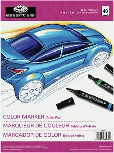 Color Marker Pad 9 x12 40 Sheets 6 Pack