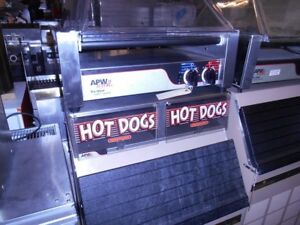 Nemco Hotdog Roller With Bun Warmer With Sneeze Guard
