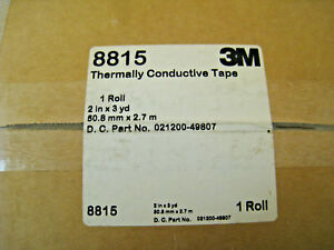 New 3m Thermally Conductive Adhesive Transfer Tape 8815 2 Wide X 3 Yd Length