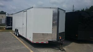 8 5x24 Enclosed Cargo Trailer V nose Utility Motorcycle Atv Lawn Landscape