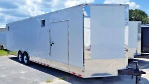 8 5 X 28 Enclosed Cargo Trailer V nose Utility Motorcycle Atv Race Ready Edition