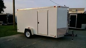 New 6x12 Enclosed Trailer Cargo V nose Utility Motorcycle Lawn Landscape