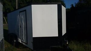 New 7x16 White Blackout Enclosed Trailer For Bikes Boutiques Bands Etc
