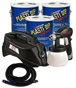 Bundle 4 Pieces Plasti Dip 3 Gallon Basic Car Kit Gunmetal Gray no Califo