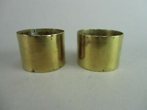 Japanese Buddhist Altar Fitting Accessory Brass Pair Gold Butsudan Butsugu B309