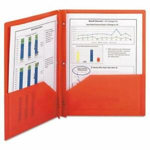 Smead Poly Two pocket Folder With Fasteners 8 1 2 X 11 Red 25 box smd87727